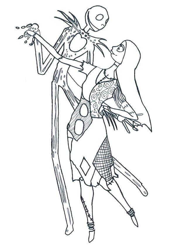 Nightmare Before Before Christmas And Coloring On Pinterest Nightmare Before Coloring Page