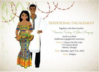 11 best invitation images on pinterest traditional wedding me dowapaa ghanaian traditional wedding invitation stopboris Choice Image
