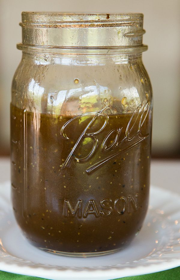 Honey-Balsamic Vinaigrette - A sweet and tangy easy vinaigrette that can keep indefinitely! | browneyedbaker.com