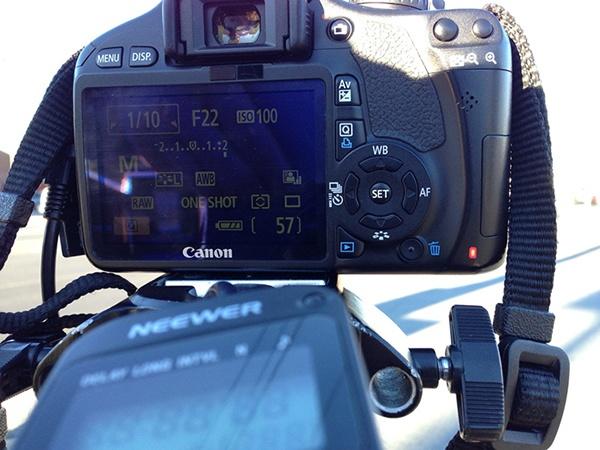 Time Lapse camera settings