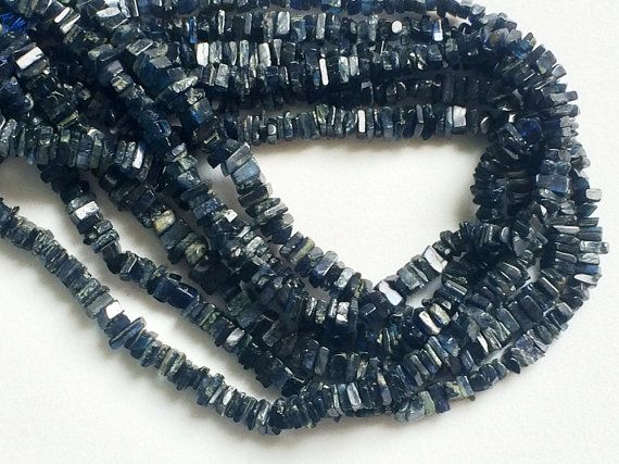 WHOLESALE 5 Strands Kyanite Heishi Chips Kyanite by gemsforjewels