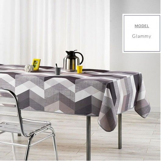 Sivé obrusy do jedálne s cikcak vzorom