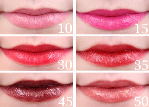 http://makeuptips-blog.com: Max Factor Colour Elixir Giant Pen Stick Swatches - 10 Couture Blush, 15 Vibrant Pink, 30 Designer Blossom, 35 Passionate Red, 45 Intense Plum, 50 Hot Chocolate
