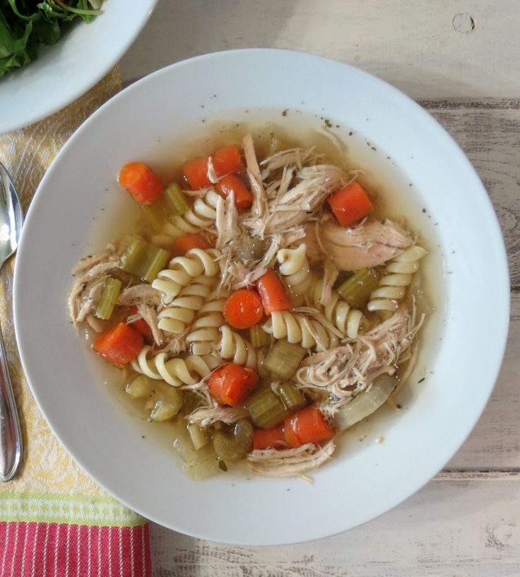 Chicken Noodle Soup in a Crockpot - A traditional, healthy chicken ...