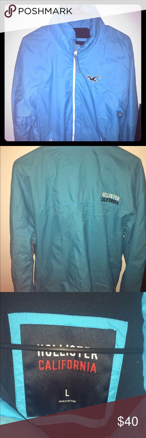 HOLLISTER JACKET !! Blue hollister jacket! Warm & cozy! Fits m/l Hollister Jackets & Coats