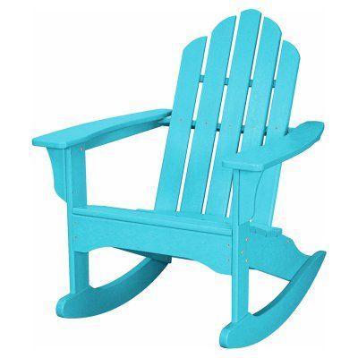 Outdoor Hanover All-Weather Adirondack Rocking Chair Aruba Blue - HVLNR10AR