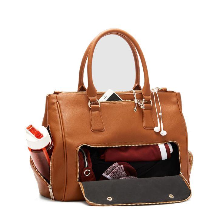 Fact + Fiction Sophia Tote Tan, £135.  The ultimate stylish, functional gym bag.