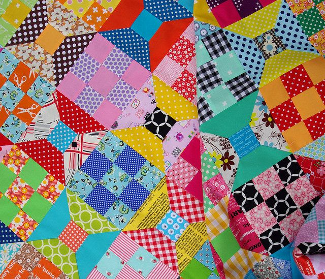 Spool and Nine Patch Quilt - TUTORIAL and TEMPLATES | Red Pepper Quilts