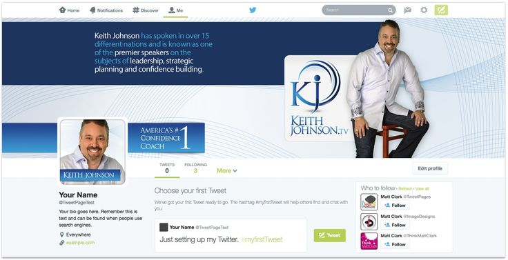 Keith Johnson Custom Facebook Cover Design - by TweetPages.com #TweetPages