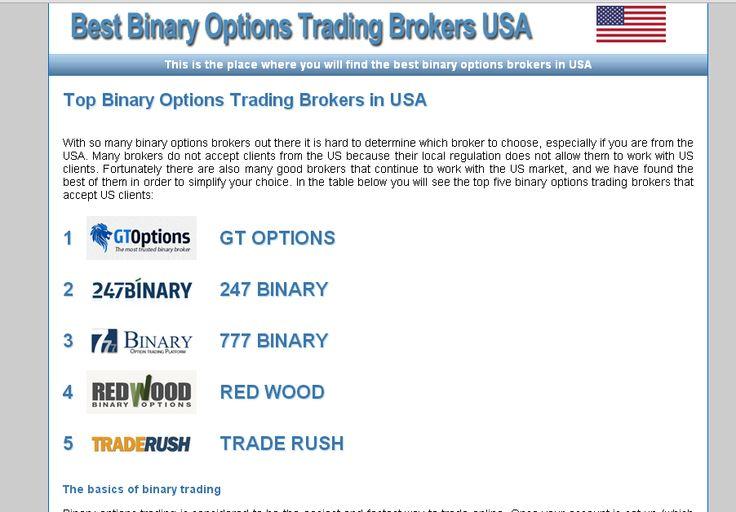 Us based binary options brokers