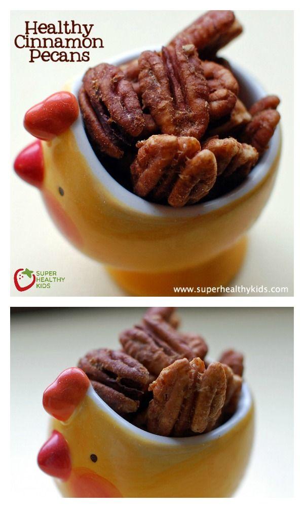 Sugar Free Cinnamon Pecans - Pecans sweetened by nature!! http://www.superhealthykids.com/sugar-free-cinnamon-pecans/