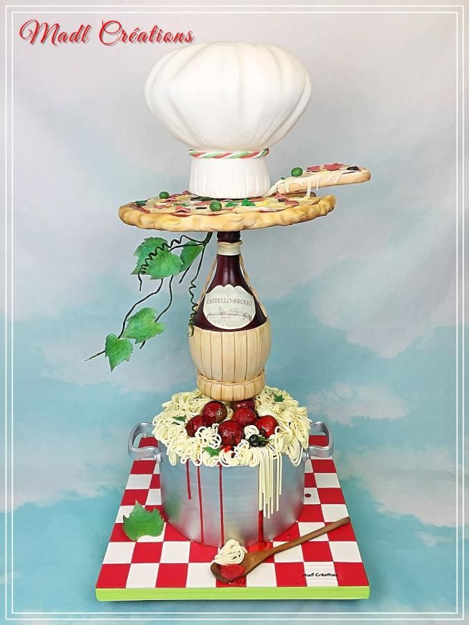 Tower cake viva l'Italia by madlcreations