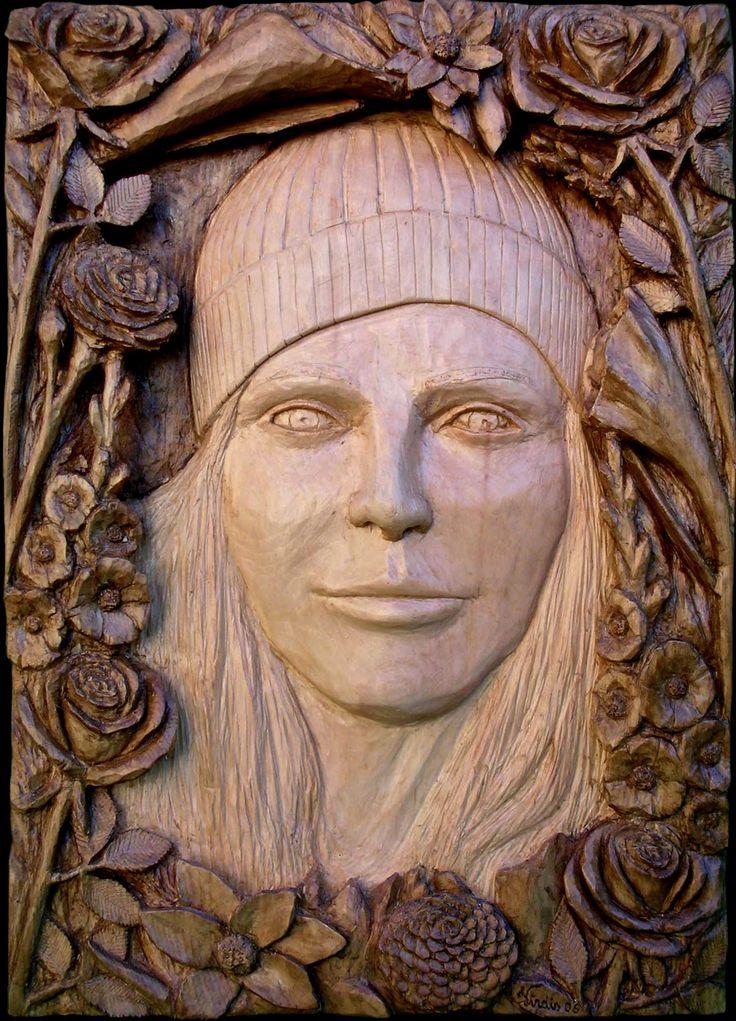 scultura in legno: fiori (2006)