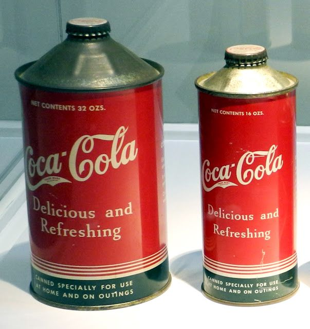 """Latas """"cone top"""" - Coca-Cola - 1936  - Finally!  I've found something that is before my time!"""