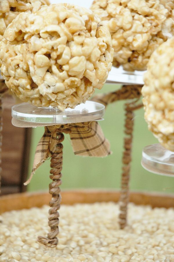 pop corn balls!: Popcorn Ball, Popcorn Pop, Popcorn Parties, Rustic Popcorn, Parties Ideas, Popcorn Bar, Popcorn Gifts, Diy Popcorn, Food Bar