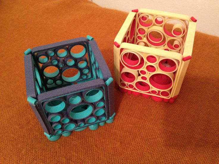 Quilled Retro Circles Candle Holder Pattern - by Little Circles