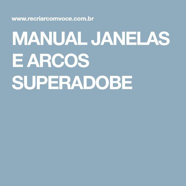 MANUAL JANELAS E ARCOS SUPERADOBE