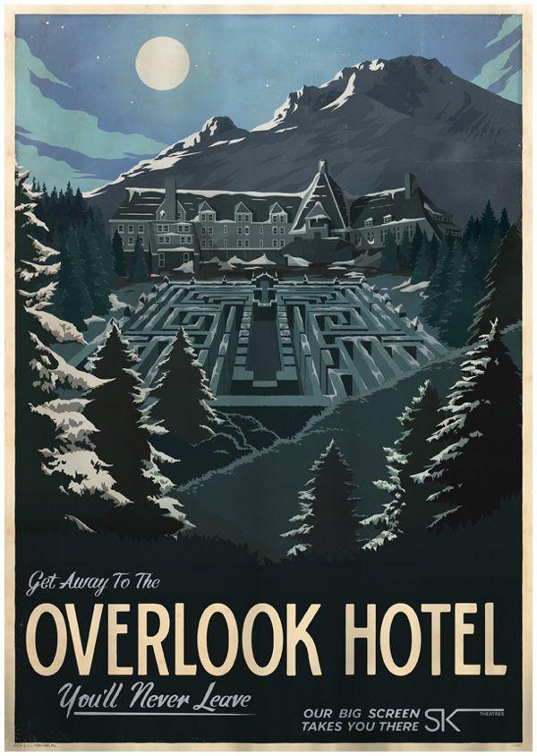 Cartazes de viagens para locais famosos do cinema