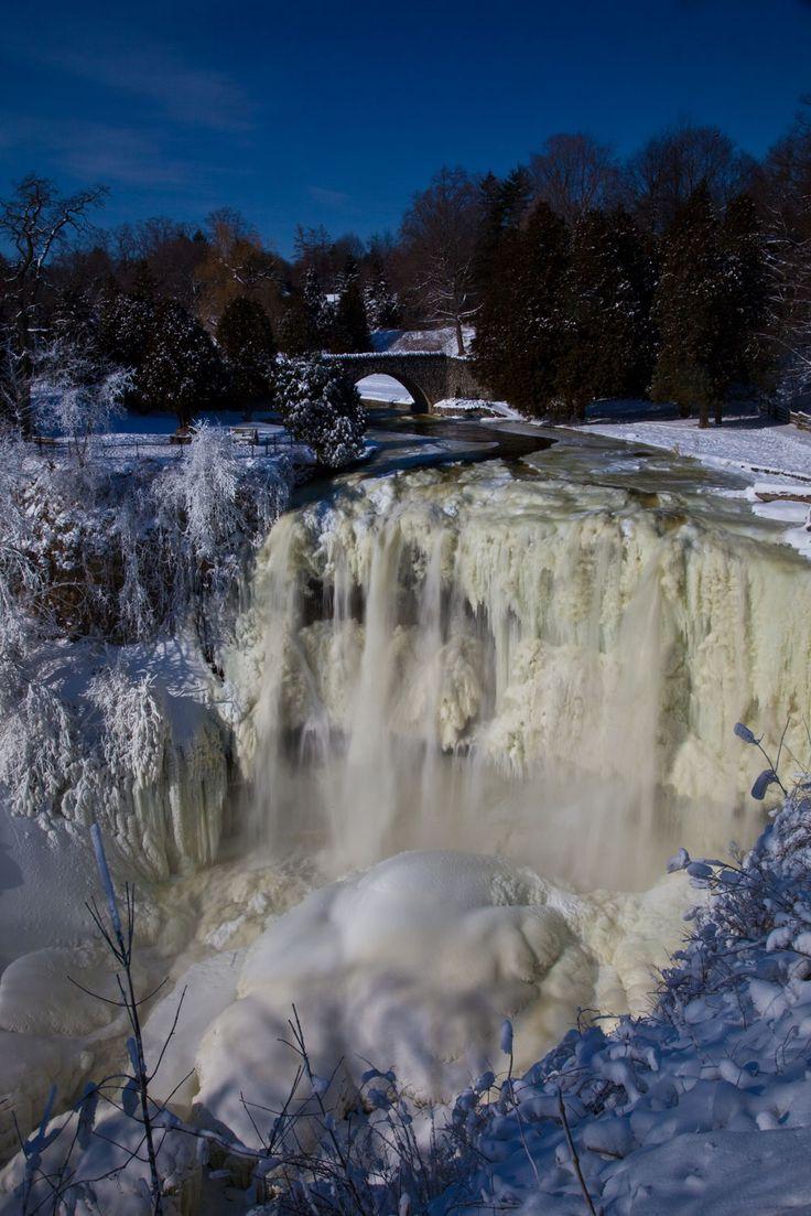 Frozen Webster's Falls Hamilton Ontario Canada
