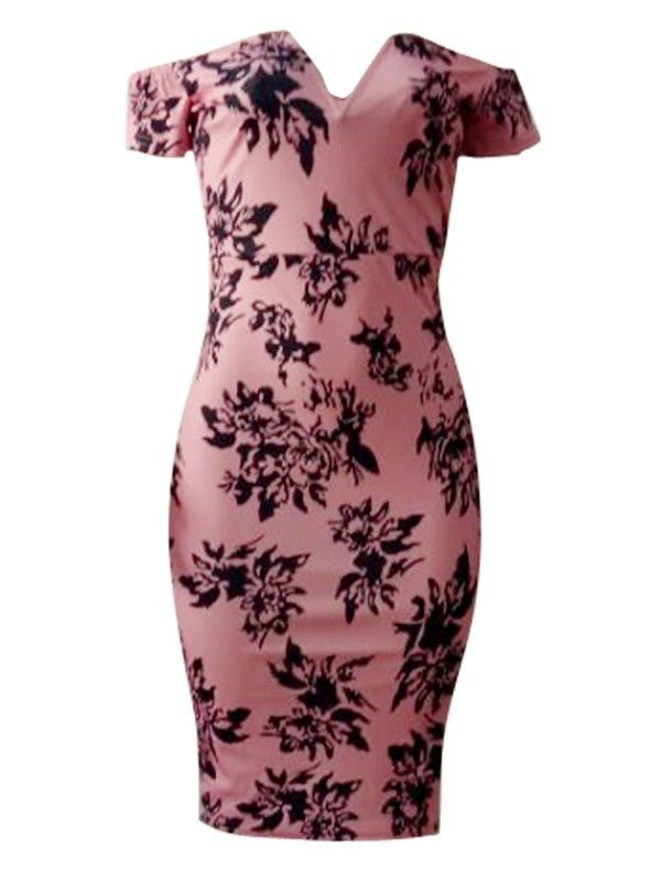 2cdce592ad Sexy Floral Printing Tube Dress