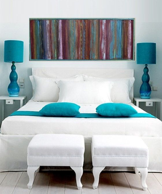 Best 25 painted wood headboard ideas on pinterest for Painted on headboard