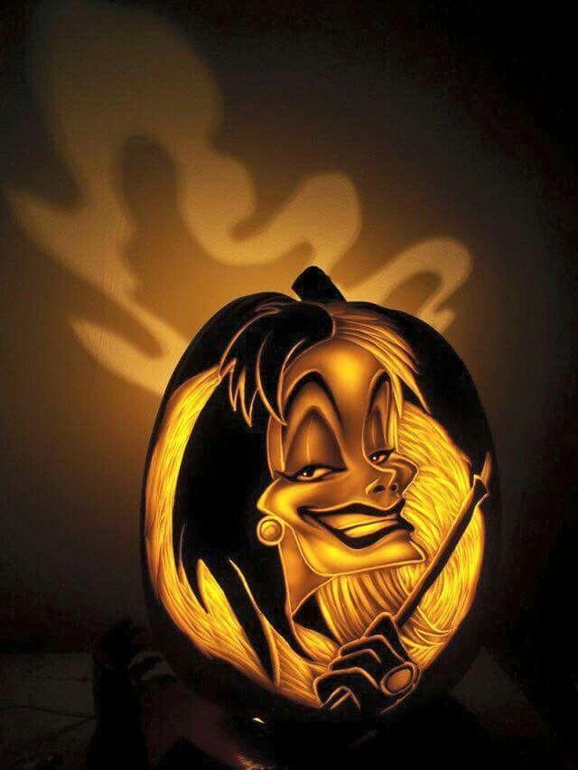Cruella devil halloween pinterest pumpkin carvings
