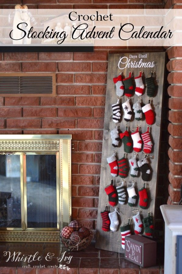 Crochet Stocking Advent Calendar CAL - Make this fun and festive holiday countdown to Christmas! free pattern from Bethany Dearden at Whistle & Ivy.
