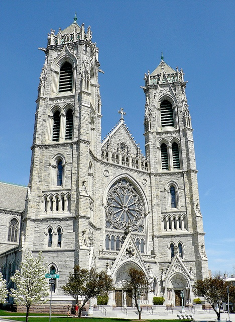 Cathedral Basilica of the Sacred Heart  It is the 5th largest cathedral in the United States and is the seat of the Roman Catholic Archdiocese of Newark, New Jersey. The original design called for an English/Irish-gothic church but plans were later modified in favor of a French-gothic style. The construction started in 1899 and was completed in 1954.