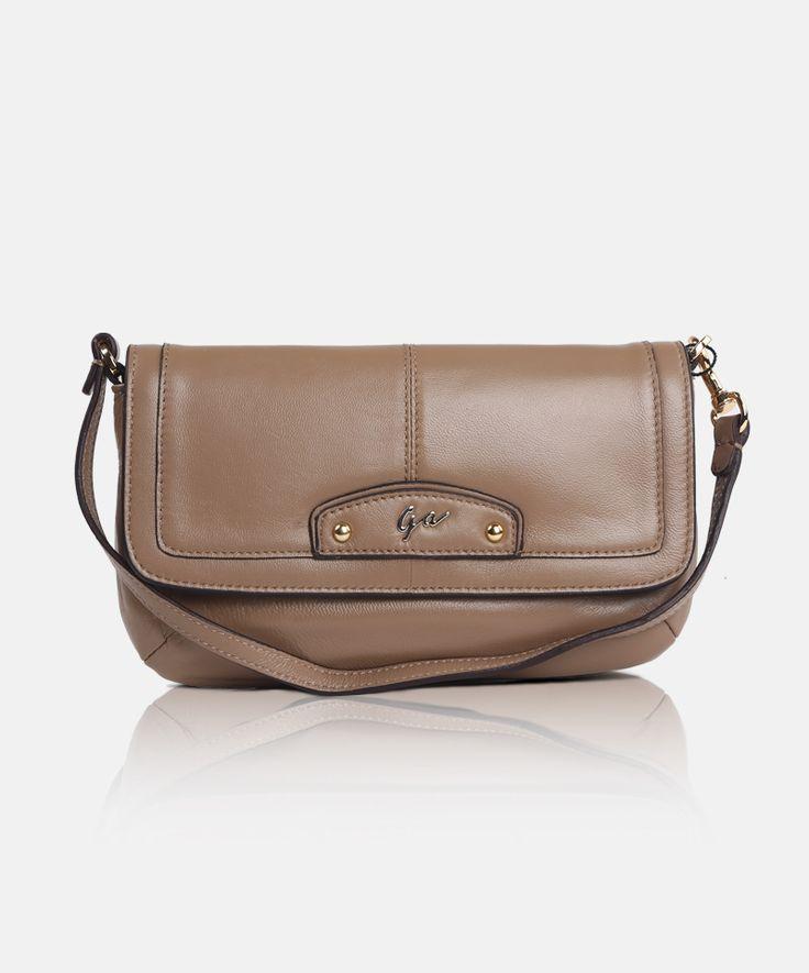 Giorgio Agnelli genuine #leather #clutches #handbag for #women GA 63011 Khaki -a chic classic design handbag-