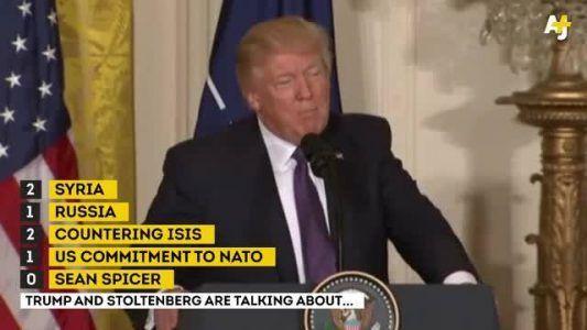 RAW: Trump & NATO Secretary General Jens Stoltenberg give statements after their #news #alternativenews