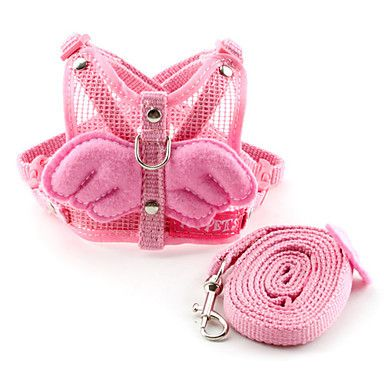 Pet Puppy Cat Dog Little Angel Wing Mesh Fabric Vest  Collar Harness and leash for Cat and Dogs Assorted Colors  Free Shipping-in Dog Collars & Leads from Home & Garden on Aliexpress.com   Alibaba Group