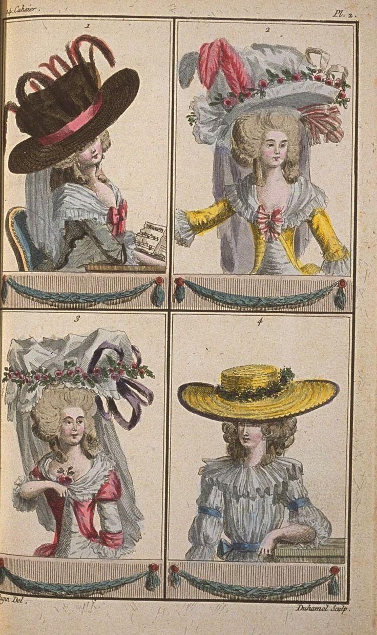 A Most Beguiling Accomplishment: Cabinet des Modes, 14e Cahier, 2e Figure two caps en pouf