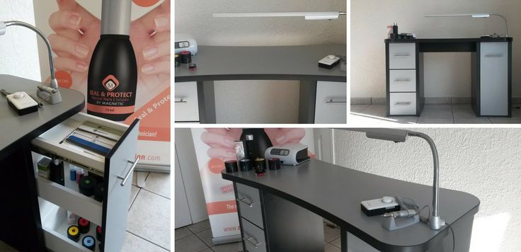 Custom nail desks and manicure desks by Magnetic Nail Academy