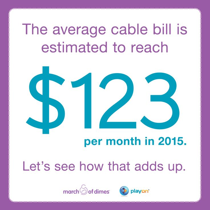cable bill per month