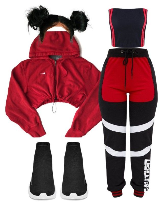 Keep Sweating Me by melaninprincess-16 on Polyvore featuring polyvore fashion style NIKE clothing