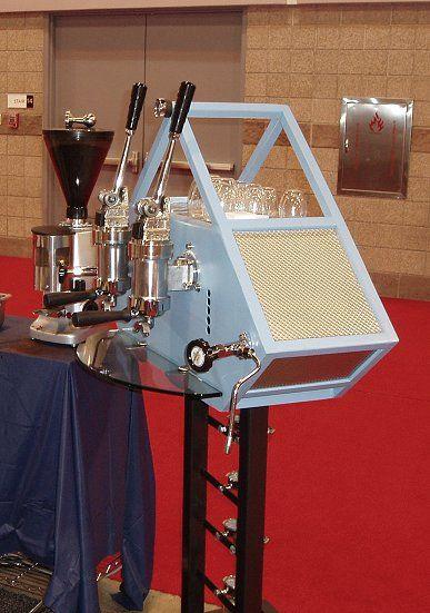 Novo Coffee's custom designed Astoria lever machine by Espression