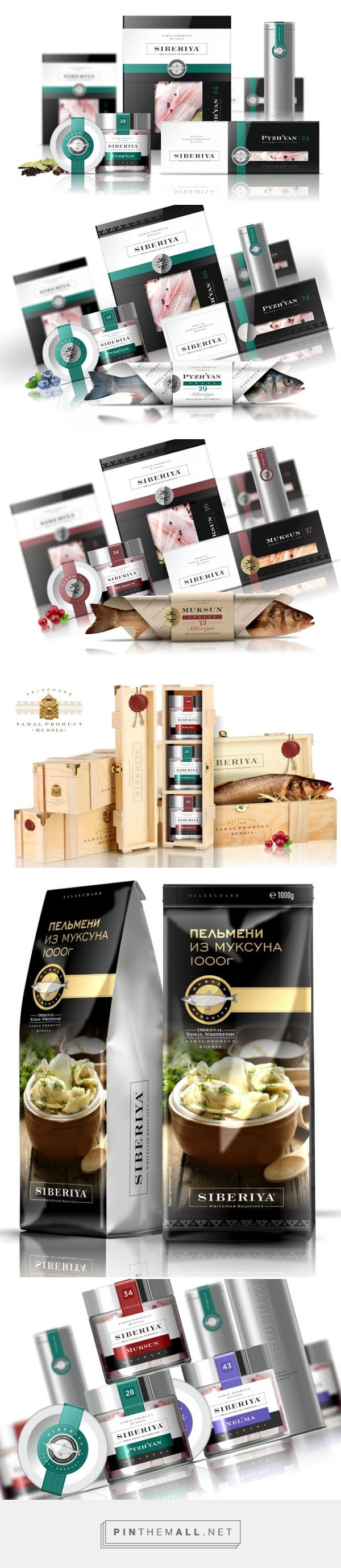 SIBERIYA #fish #packaging designed by Brandveel - http://www.packagingoftheworld.com/2015/06/siberiya.html