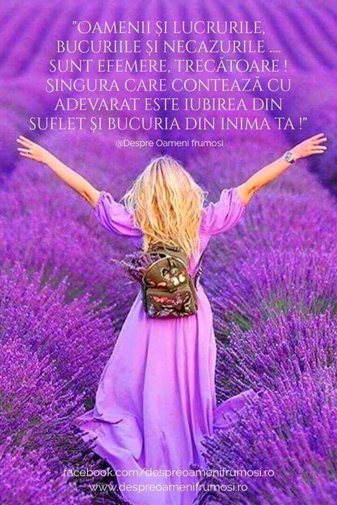 """""""Oamenii și lucrurile bucuriile și necazurile... sunt efemere trecătoare! Singura care contează cu adevarat este iubirea din suflet și bucuria din inima ta!   Niciodată nu ne-am simți singuri sau săraci dacă am avea inima plină de iubire...""""  Seară frumoasă prieteni... oriunde v-ați afla!  @Despre Oameni frumosi  . . . #despreoamenifrumosi"""