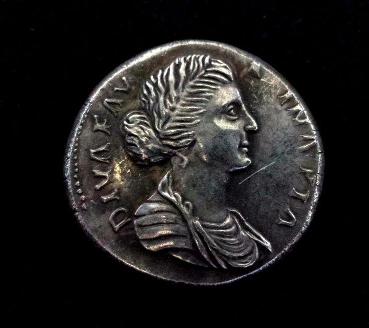 ROMA COIN SESTERSIUS DIVAFAVSTINAPIA 161-175 DC  FAKE | eBay