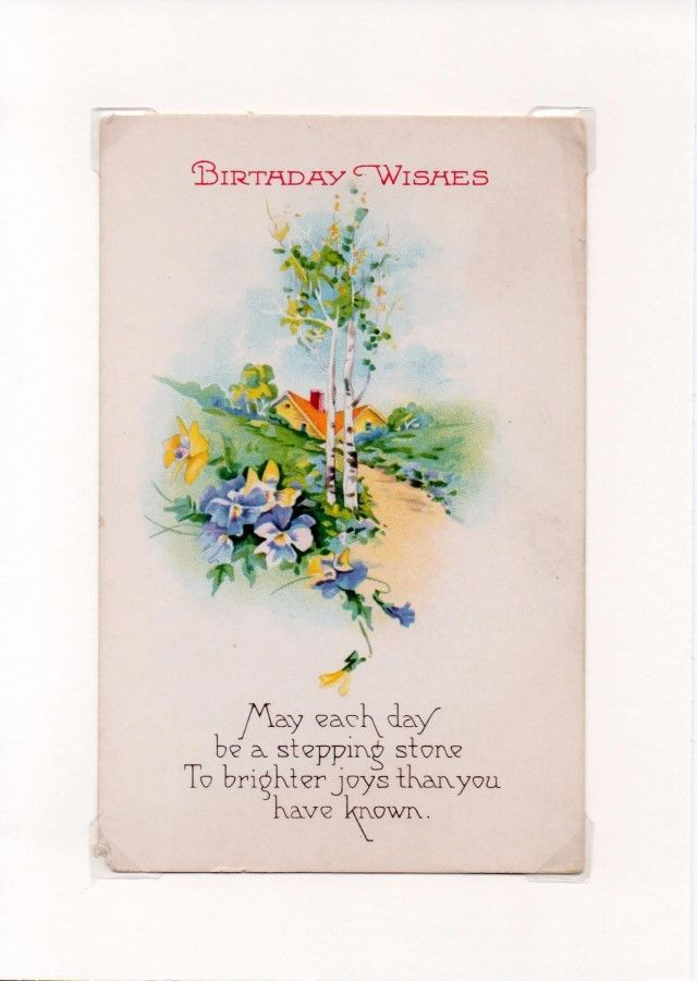 Country Lane Vintage Birthday Wishes Greeting Card