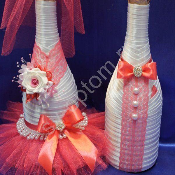 """20 отметок «Нравится», 1 комментариев — Свадебные платья в Сочи (@art_glamour_wedding) в Instagram: «Оформление шампанского в цвет вашей свадьбы! Свадебный салон """"ArtGlamour"""" Г. Сочи ул Конституции…»"""
