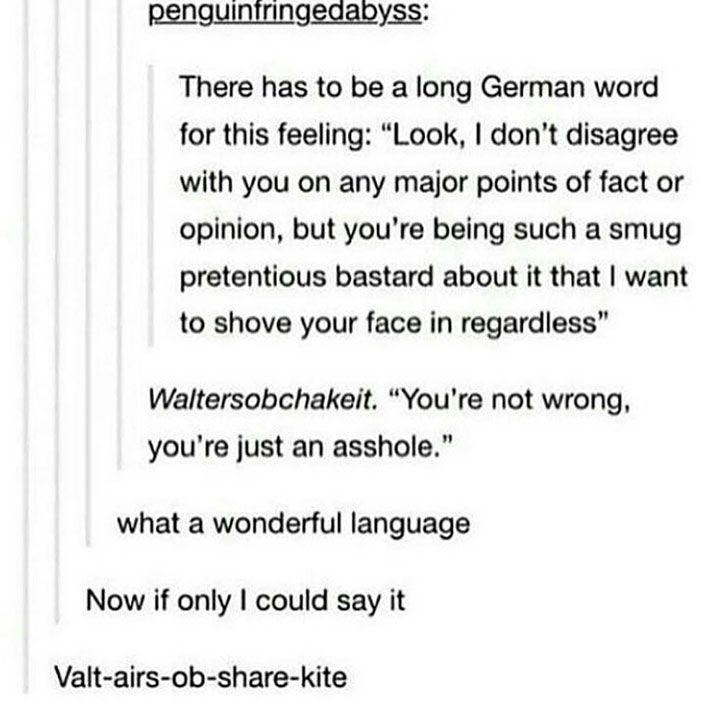 Were you born an asshole deutsch