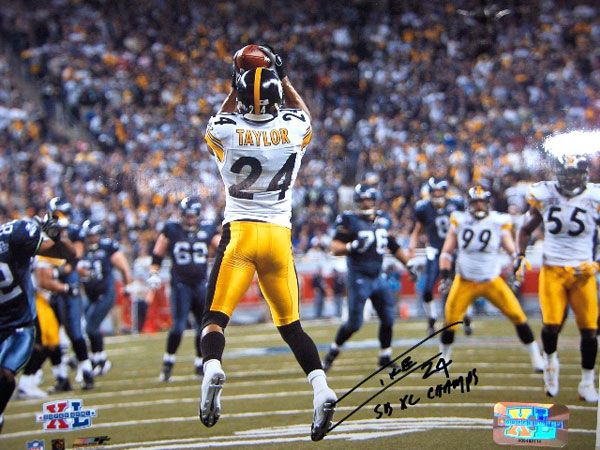 Ike Taylor Photos | SuperSportsCenter.com - Ike Taylor Autographed SB 8x10 Photo SB 40 ...