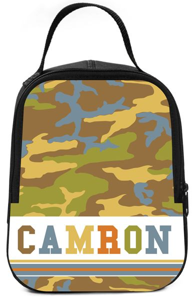Camo Boy Lunch Box - Browse our new and improved personalized lunchboxes...all with exclusive designs!