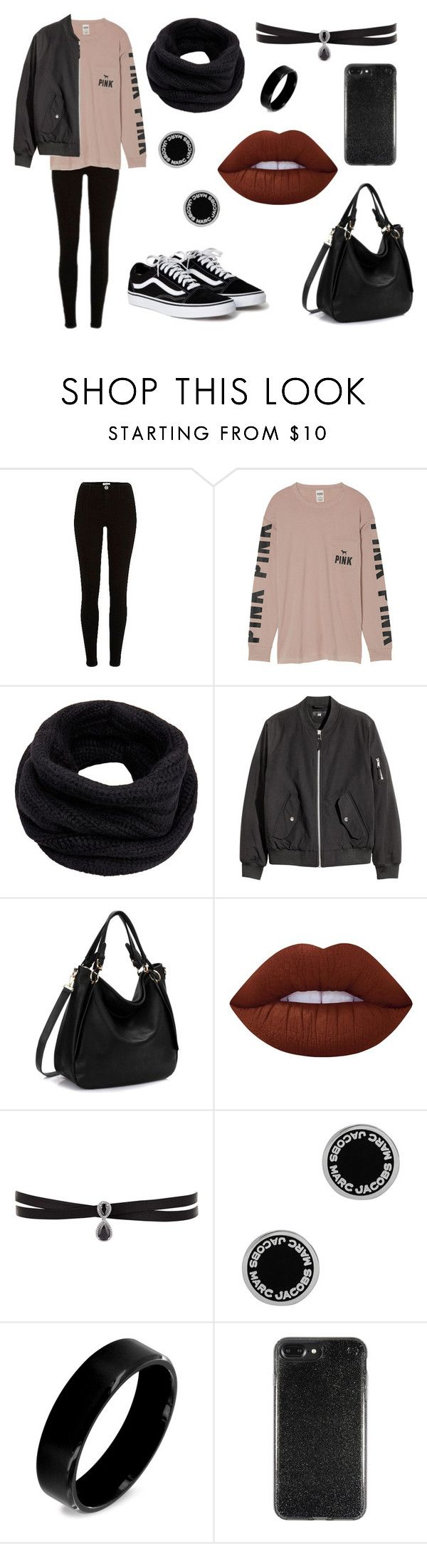 """Untitled #332"" by fashion-with-dudette on Polyvore featuring River Island, Victoria's Secret, Helmut Lang, Lime Crime, Fallon, Marc Jacobs and West Coast Jewelry"
