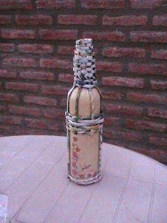 El arte del desquite: Botella decorada 5