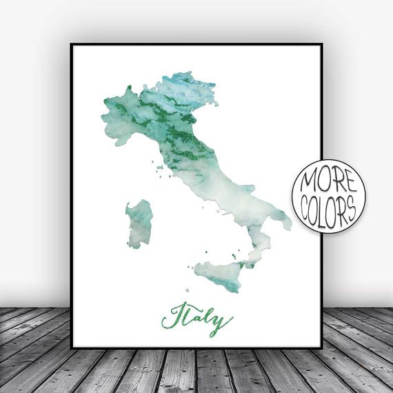 Italy Print, Watercolor Print, Italy Map Art, Map Painting, Map Artwork, Country Art, Office Decor, Country Map ArtPrintsZoe #WatercolorPrint #CountryArt #MapArtPrint #Italy #CountryMapArt #CountryMap #ArtPrintsZoe #OfficeDecor #ArtPrint #MapPainting