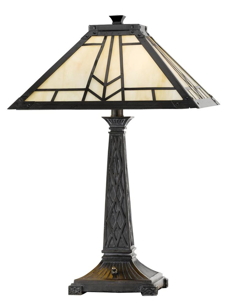 """Mission 23"""" H Table Lamp with Empire Shade"""