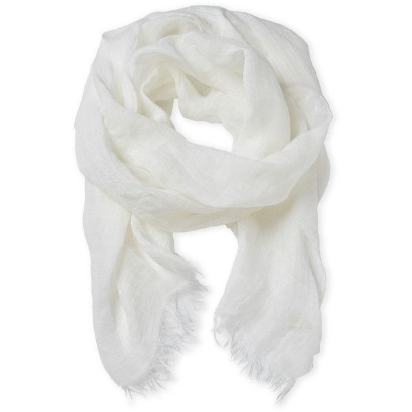 Altea Linen Scarf ($36) ❤ liked on Polyvore featuring accessories, scarves, white, linen scarves, white scarves, linen shawl, woven scarves and altea