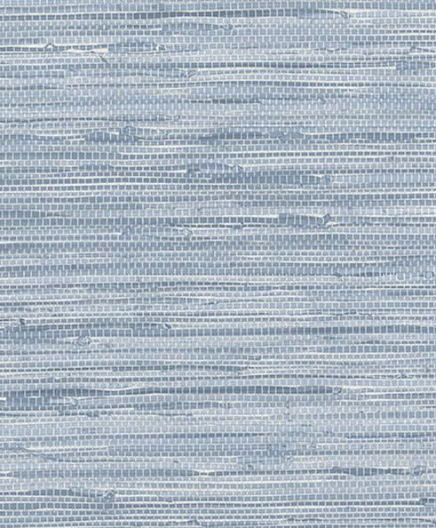 Blue Simulated Grasscloth Wallpaper  Faux by WallpaperYourWorld